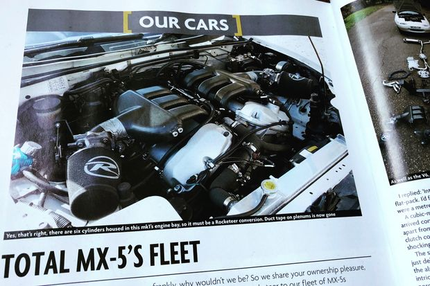MXV6 joins the Total MX-5 fleet - Issue 8 reveals the start of the self-build process